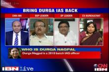Was the UP govt preassurised by sand mining mafia to suspend IAS officer Durga?