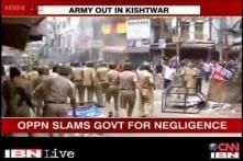 Kishtwar: Opposition blames state government for violence