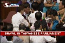 Taiwan: Lawmakers exchange punches over nuclear plant bill