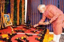 Narendra Modi supporters celebrate his Shastra Pooja, critics poke fun