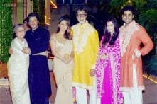 Amitabh Bachchan and his family celebrate Diwali with film fraternity