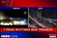 K'taka: 7 die after bus enroute to Mumbai from Bangalore catches fire