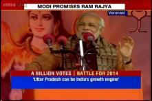 Varanasi: Modi praises UP, tries to woo people ahead of 2014 LS polls