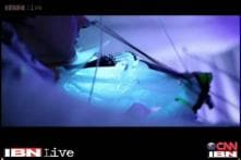 Watch: Musicians play instruments made of ice at Swedish concert