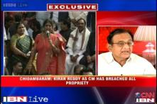 Kiran Reddy crossed the 'lakshman rekha' as CM on Telangana, says Chidambaram