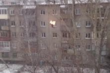 Watch: Russian sets himself on fire and then jumps off a five-storey building