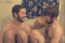 Two brothers recreate childhood photos as a gift to their mum