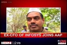 Watch: Ex Infosys CFO V Balakrishnan on his political debut with AAP