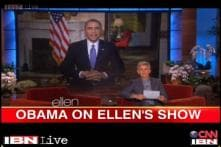 Watch: Obama mocks Ellen DeGeneres's record-breaker Oscar selfie