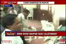 Congress workers create ruckus in Raipur over ticket distribution