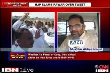 Pawar, Congress's defeat evident on their faces: Naqvi