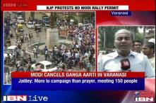 Watch: BJP workers protest outside BHU over no permission for Modi's rally