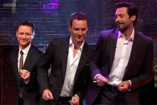Watch: Michael Fassbender, James McAvoy and Hugh Jackman show off their dance moves on 'The Graham Nortan Show'