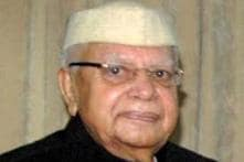 ND Tiwari meets his woman companion after intervention from Lucknow police