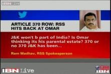 Article 370: RSS hits out at Omar, says J&K will always be a part of India