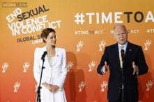 Angelina Jolie, UK's Hague, vow action against sexual violence in war