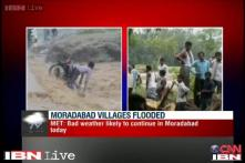 Youth swept away by rain swollen river in Moradabad