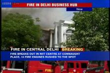 Chaos in Delhi's Connaught Place after massive fire breaks out in building