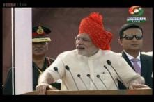 Modi hails Indian democracy for making him PM, unfurling the flag at Red Fort