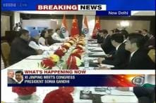 Chinese President Jinping meets Manmohan Singh, Sonia on 3rd day of his India tour