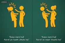 Photos: 'Pissing in public isn't against Indian culture, but kissing is?' 24-year-old graphic designer's artwork is the perfect response to confusing Indian logic