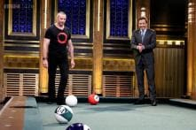 Watch: Hugh Jackman and Jimmy Falon play an awesome game of 'pool bowling'