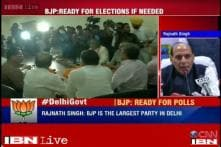 Depends on Lt Governor whom he invites to form Delhi government, says Rajnath Singh