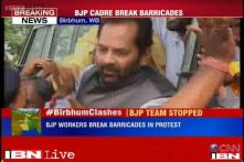 Birbhum: BJP workers led by Mukhtar Abbas Naqvi arrested for breaking barricades, released on bail