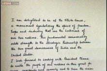 Looking forward to turn vision of our partnership into a lasting reality: Modi's note in Visitor's Book of White House