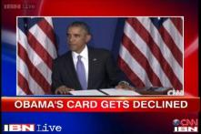 Watch: Barack Obama talks about his credit card getting declined