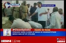 Venkaiah Naidu picks up the broom to clean cyclone-hit Visakhapatnam