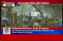 Self-styled godman Baba Rampal supporters protest in Delhi