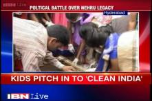 Hyderabad: Students celebrate Children's Day with 'Swachh Bharat Abhiyan'