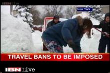 Snowstorm grips New York, travel ban to be imposed