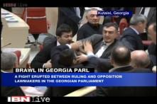 Watch: Georgia MPs fight inside Parliament, uproot microphones, use them as weapons