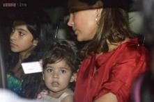 Lara Dutta shares a picture of her daughter Saira meeting the Santa Claus as proud father Mahesh Bhupathi looks on