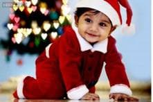 Snapshot: Telugu actor Allu Arjun posts a picture of his son Ayaan in a little Santa Claus costume