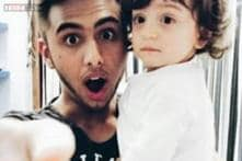 Photo of the day: Shah Rukh Khan's son Abram looks adorable as he poses with elder brother Aryan's friend