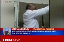 Caught on camera: Firefighters drink, celebrate New Year on duty in Hyderabad