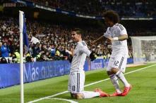 James Rodriguez scores as Real Madrid beat Sevilla 2-1 in La Liga