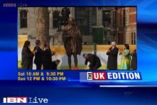 Veteran actor Amitabh Bachchan unveils Mahatma Gandhi statue in UK