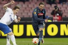 Europa League: Higuain lifts Napoli, De Bruyne cheers Wolfsburg