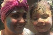 Photo Of The Day: Lara Dutta poses for a Holi selfie with daughter Saira