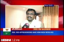 J&K government formation: RSS apprehensions have now been resolved, says Ram Madhav