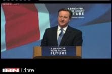 British PM David Cameron releases manifesto for Conservative party