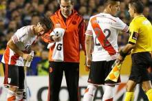 Boca-River match suspended after players attacked with pepper spray