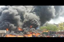 Fire at Keshopur vegetable market in West Delhi; no casualty reported