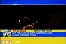 Bengaluru: Fire at Bellandur lake for the second time in 3 days