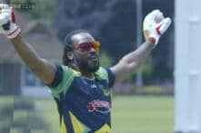 Watch: Did Chris Gayle cheat in the drone challenge?