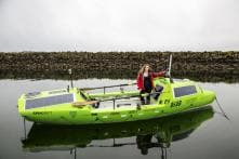 US woman abandons attempt to cross Pacific Ocean solo in rowboat